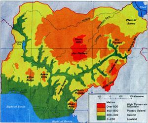 Nigeria Geographical features of Nigeria OnlineNigeriacom