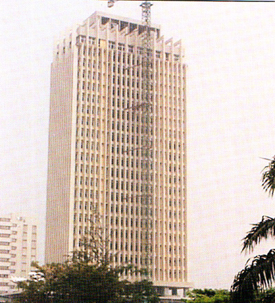 The Indepence Building, Lagos, built in 1960