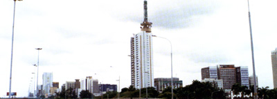 Lagos Skyline with NECOM Building in the background