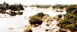 Rock-soaked Ogun River scene, Ewekoro