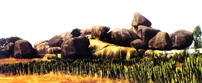 Iyom Rocks - A typical scenery around Plateau State