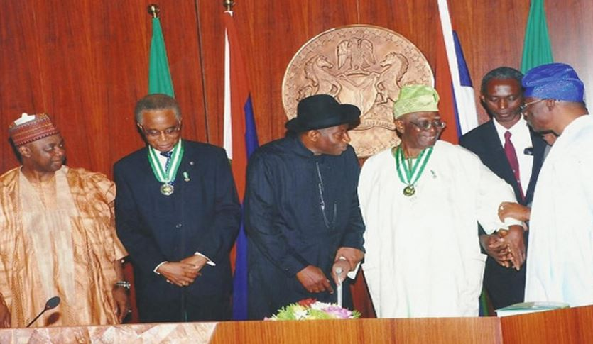 Professor Ohaegbulam with President Goodluck Jonathan