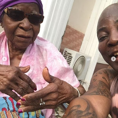 Charly Boy Shows Off His 101-Year-Old Mum (Photos)