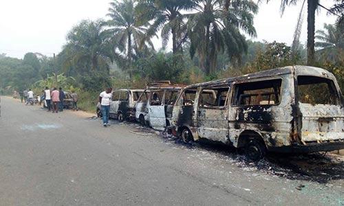 Thugs burn INEC buses, kill two in Akwa Ibom