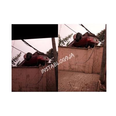 4 Boys Driving Recklessly, Survive A Freak Accident In Enugu (PHOTO)