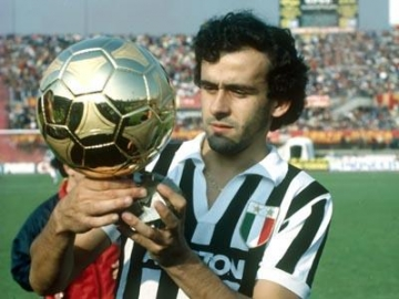 Platini in Juventus uniform ballon d'Or