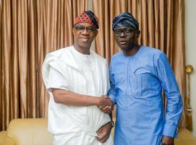 Babajide Sanwo-Olu Congratulates Dapo Abiodun On His Victory (PHOTO)