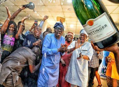 Caption!! Sanwo-Olu's Face During Election Win Celebration (PHOTO)