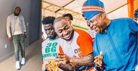 Davido reacts as Tribunal declares his uncle winner of Osun Governorship Election