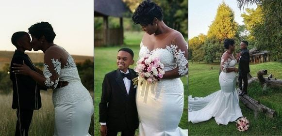 Diminutive actor, Themba Ntuli marries the love of his life