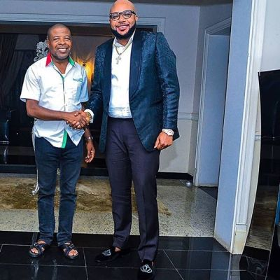 E-Money All Smiles With The Governor-elect of Imo State, Emeka Ihedioha (PHOTO)