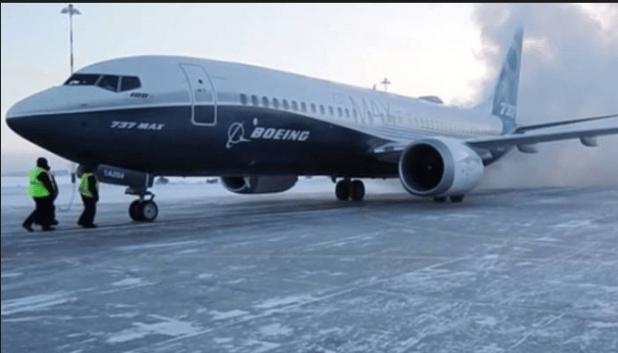 Boeing 747 Max 8 aircraft