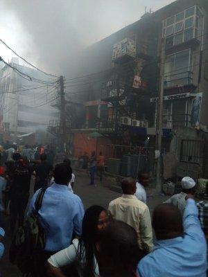 Fire Outbreak At Abibu Oki, Lagos Island (PHOTOS)