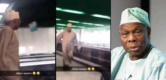 Obasanjo Reportedly Takes Off After Buhari's Victory