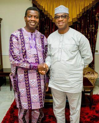 Ogun Gov-Elect, Dapo Abiodun With Pastor Adeboye RCCG G.O