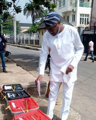"""Performing My Civic Duty"" - Femi Otedola Casting His Vote"