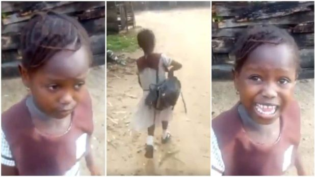 Little girl vows to deal with her school after she was sent home for owing school fees