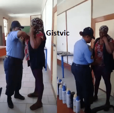 Woman Caught After She Nearly Looted An Entire Supermarket Inside Her Bra