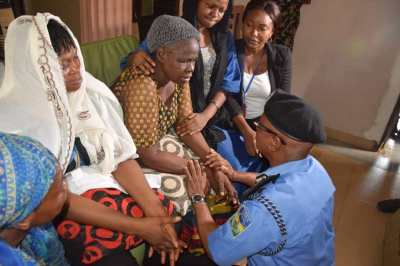 Police Team led by Commissioner of Police, CP Zubairu Visit The Family Of Kayode Johnson
