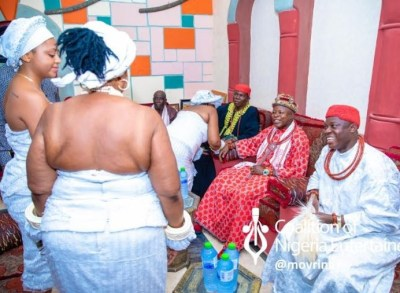 Regina Daniels Seen With Her Husband Ned Nwoko And Fellow Wives As She Is Been Initiated Into Womanhood According To Anioma Culture And Tradition (Photos And Video)