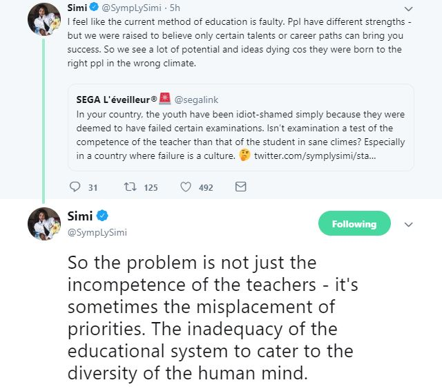 """""""The Current Method Of Education Is Faulty"""" - Simi Questions The Current Educational System"""