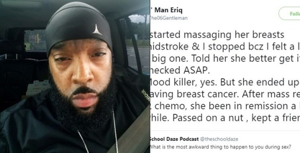 Man reveals how he saved a lady's life during sex