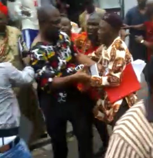 Update: Fulani men are raping our women and you are here celebrating- IPOB members speak on why Ike Ekweremadu was attacked (photo/video)