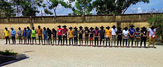 27 yahoo boys arrested