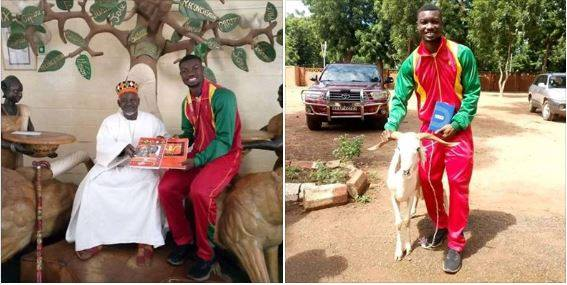 Athlete Shares Photo Of Ram Gift He Received For Winning Doha Medal