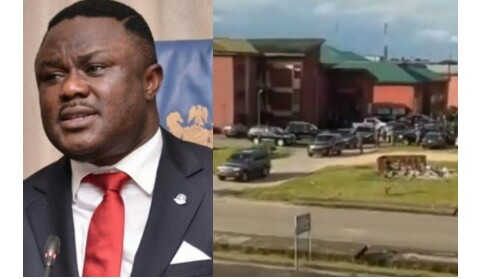 Governor Ayade Becomes UNICAL Student, Spotted Leaving School In 20-Jeep Convoy (Video)