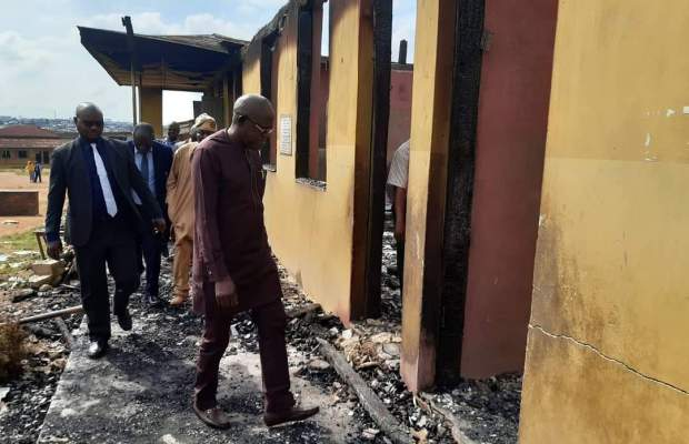 Canon Okusehinde Memorial Primary School after fire incident