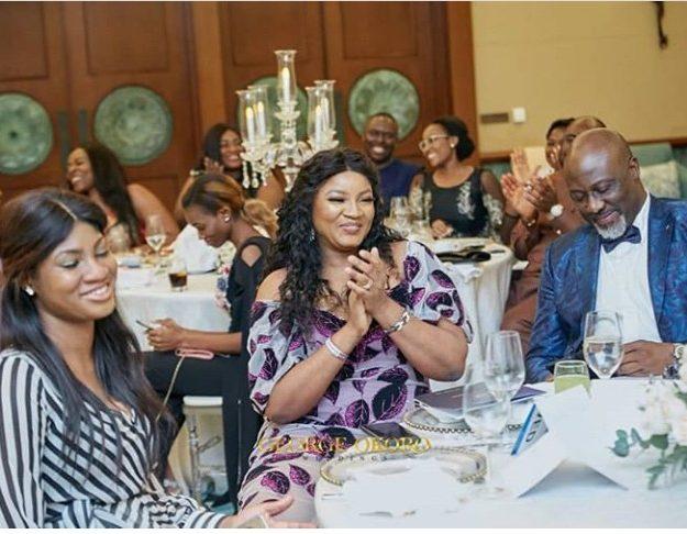 Omotola Jalade-Ekeinde & Her Daughter At Dino Melaye's Sister's Wedding In Dubai (Photos)