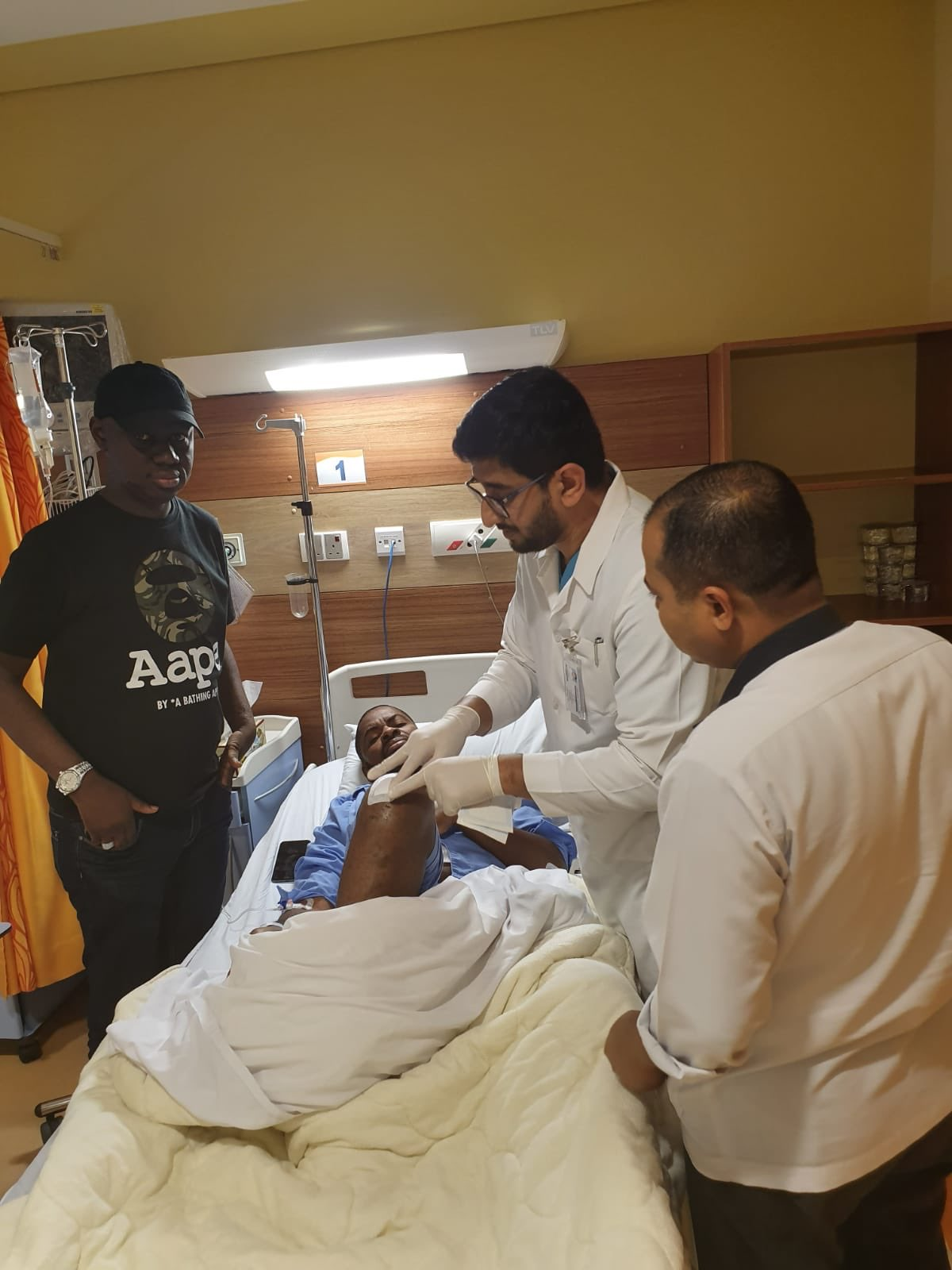 Adeyanju in hospital