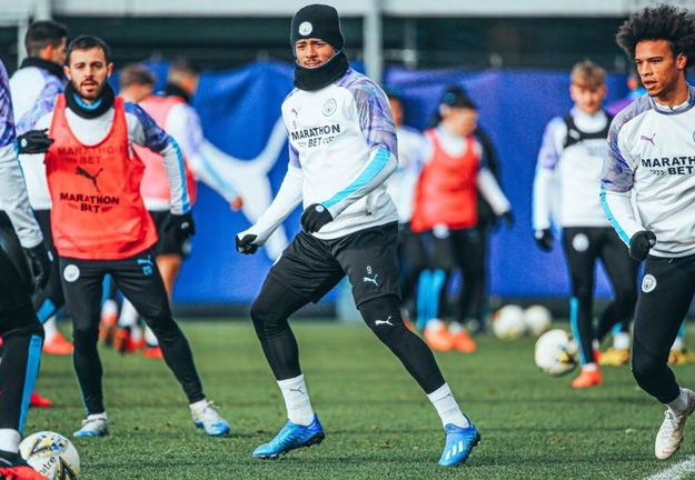 Sane Returns To Full Training After Five Months Out With Injury