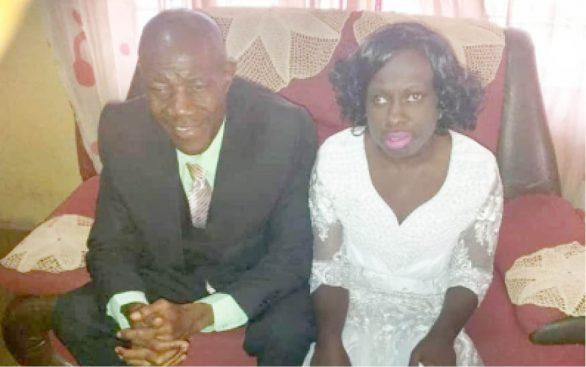 Blind couple marry
