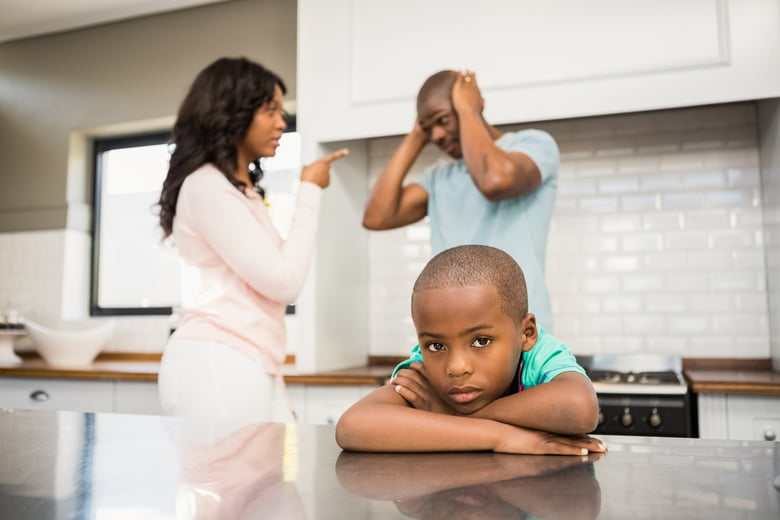 Image result for random picture of a parent arguing in front of their kids