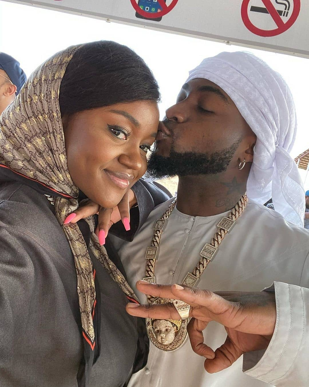 Davido and Chioma dressed in Arabia outfit