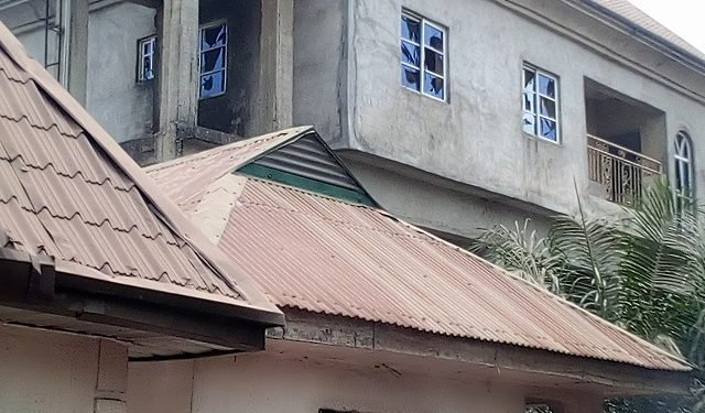 One of the mansions demolished in Imo state