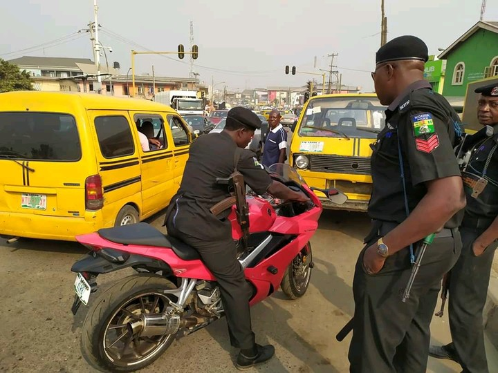 Police seized the man's powerbike in Lagos