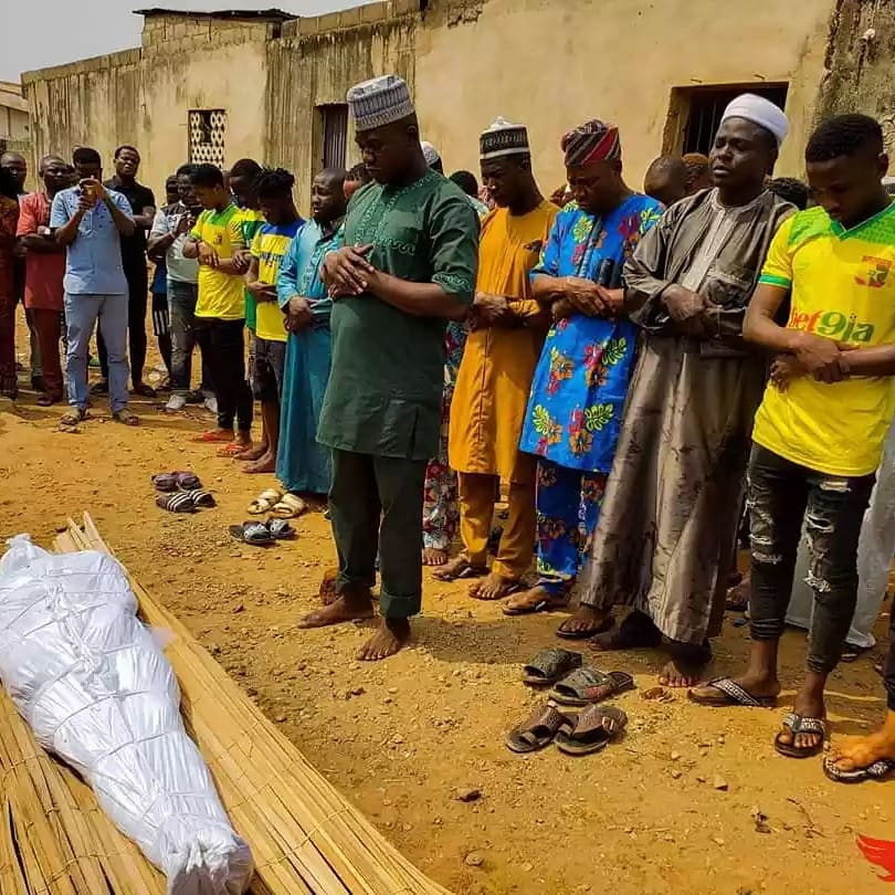 Photos from the funeral of Remo stars player, Kazeem Tiamiyu killed by SARS official