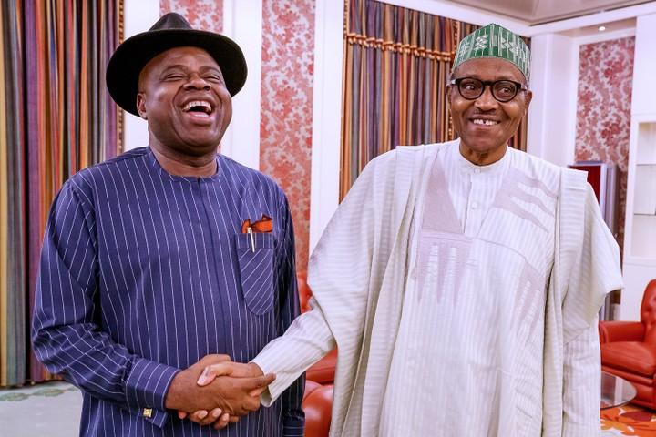 Duoye Diri and President Muhammadu Buhari