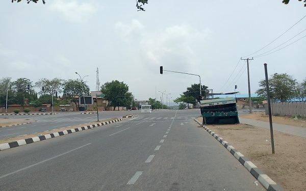 Abuja roads deserted