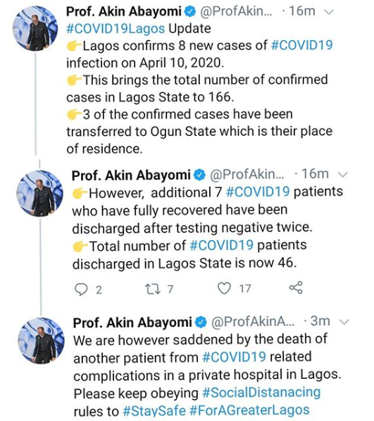 Lagos state records another COVID-19 related death