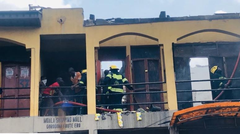 Lagos market fire