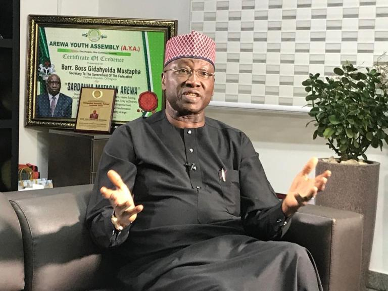 Secretary to the Government of the Federation (SGF), Boss Mustapha.