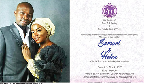 groom dies on wedding day