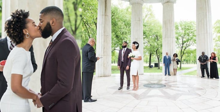 Anthony Esho married his Jamaican girlfriend in the US