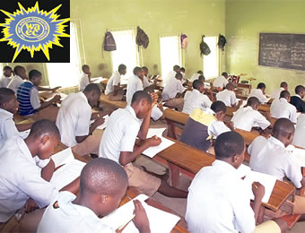 Students writing examination