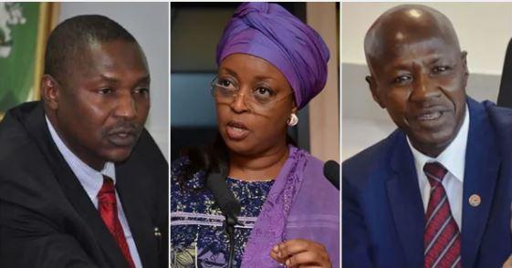 Abubakar Malami, Diezani Alison-Madueke and Ibrahim Magu