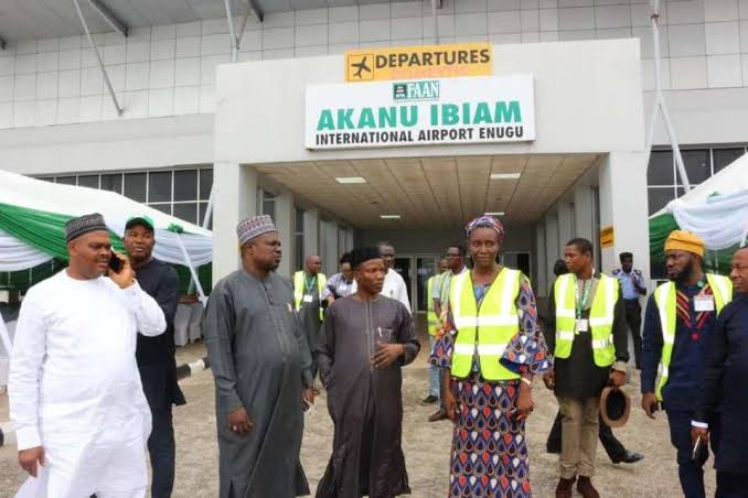Enugu Airport Begins Operation, First Flight Lands On New Runway [Photos] 1